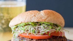 A black bean burger. Image from yummly.com