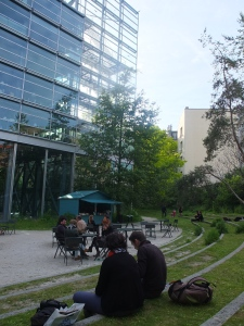 The garden of Fondation Cartier