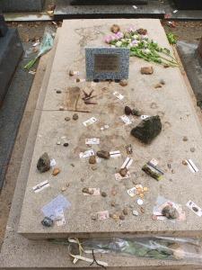 The grave of Jean Paule Sartre and Simone De Beauvoir