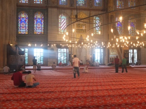 Blue Mosque, prayer area.