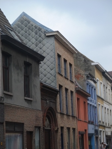 Got to love the variety of materials and colors on Ghent facades.