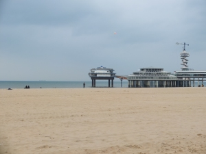 Scheveningen pier close up