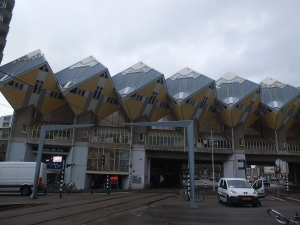Cube houses are the landmark of Blaak station.