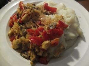 Mashed potatoes with sauerkraut
