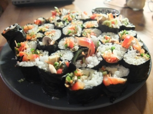 Friday vegan sushi