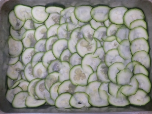 The courgette layer.