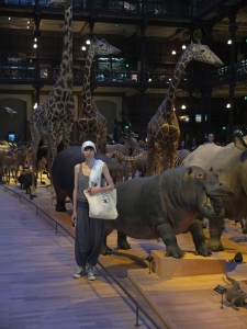 That's me in the Paris Natural History Museum. I didn't hurt the animals, they did not hurt me and I got to inspect them really closely.