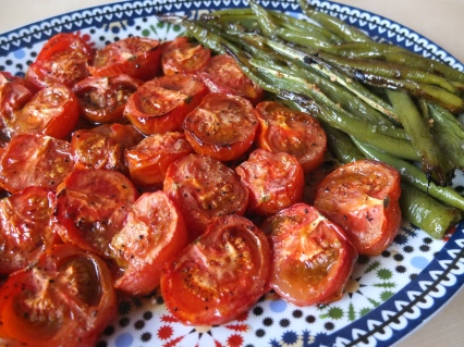 Simple roasted tomatoes and peppers