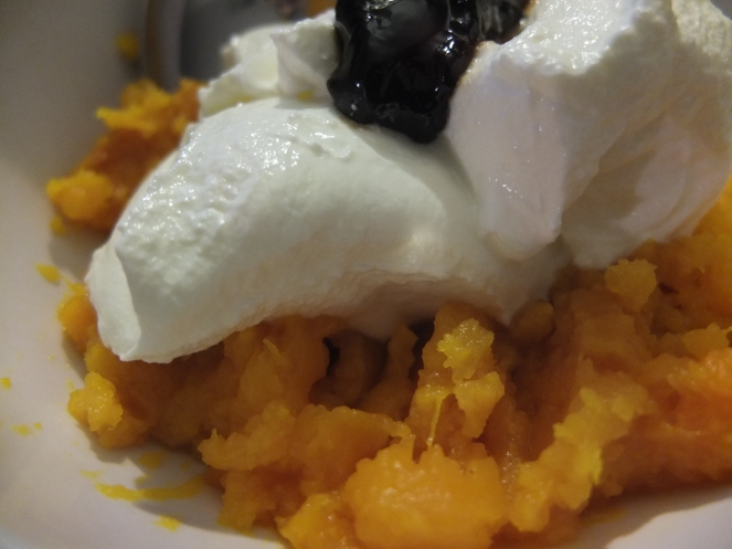 Iron-loaded pumpkin dessert