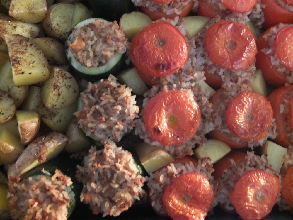 Stuffed Vegetables (Gemista) *vegan* (1/4)