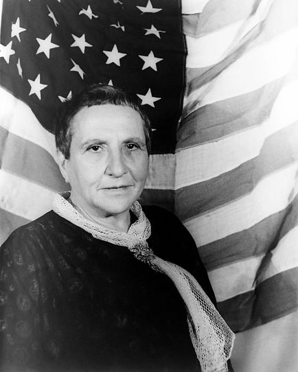 Gertrude Stein. Proof that you can have a name impossible to pronounce and still become famous. (from wikipedia)