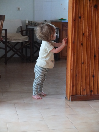 At my maternal grandparents' village house. Watching Loulou spending (even just a short) part of her summer where I spent months as a child was pretty moving. And the fact that my grandparents are still alive and well enough to enjoy their great-grandchild is pretty awesome too.